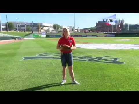Lauren Rainson Live Weather Cut in at Dozer Park