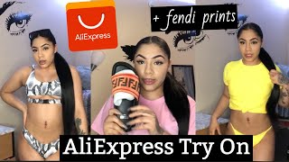 AliExpress Haul ???? pt 2 (Swimsuit Edition) || plus FENDI PRINTS