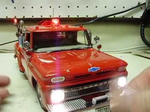Custom 1 18 Scale 1965 Chevrolet C 20 Diecast Fire Truck