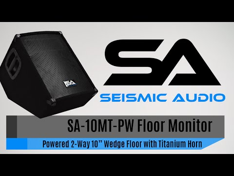 Seismic Audio SA 10MT PW Floor Monitor Official