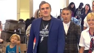 Cat-Advocate Morrissey Shows His Love For Iggy And The Stooges At LAX