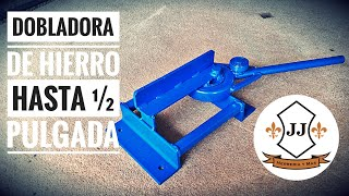 COMO HACER DOBLADORA DE HIERRO HASTA ½ PULGADA FÁCIL Y SENCILLO thumbnail