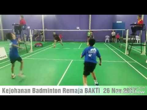 Kejohanan Badminton Terbuka Remaja BAKTI 26 Nov 2017