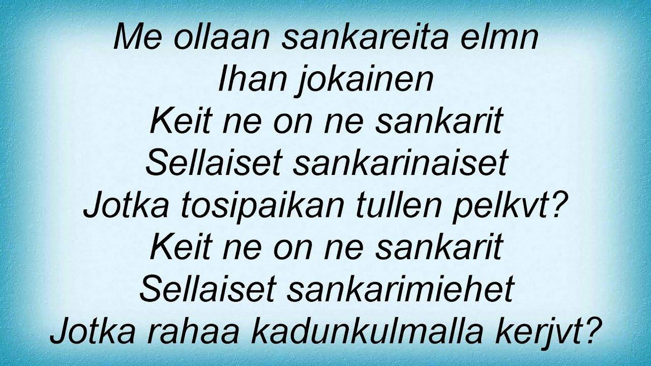 sankarit lyrics