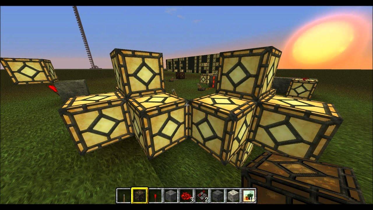Minecraft Redstone Lampen Tutorial German Youtube