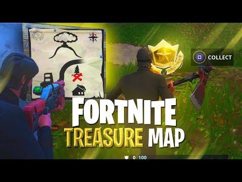 TREASURE MAP **SOLVED** Hidden Treasure Challenge  Fortnite: Battle Royale