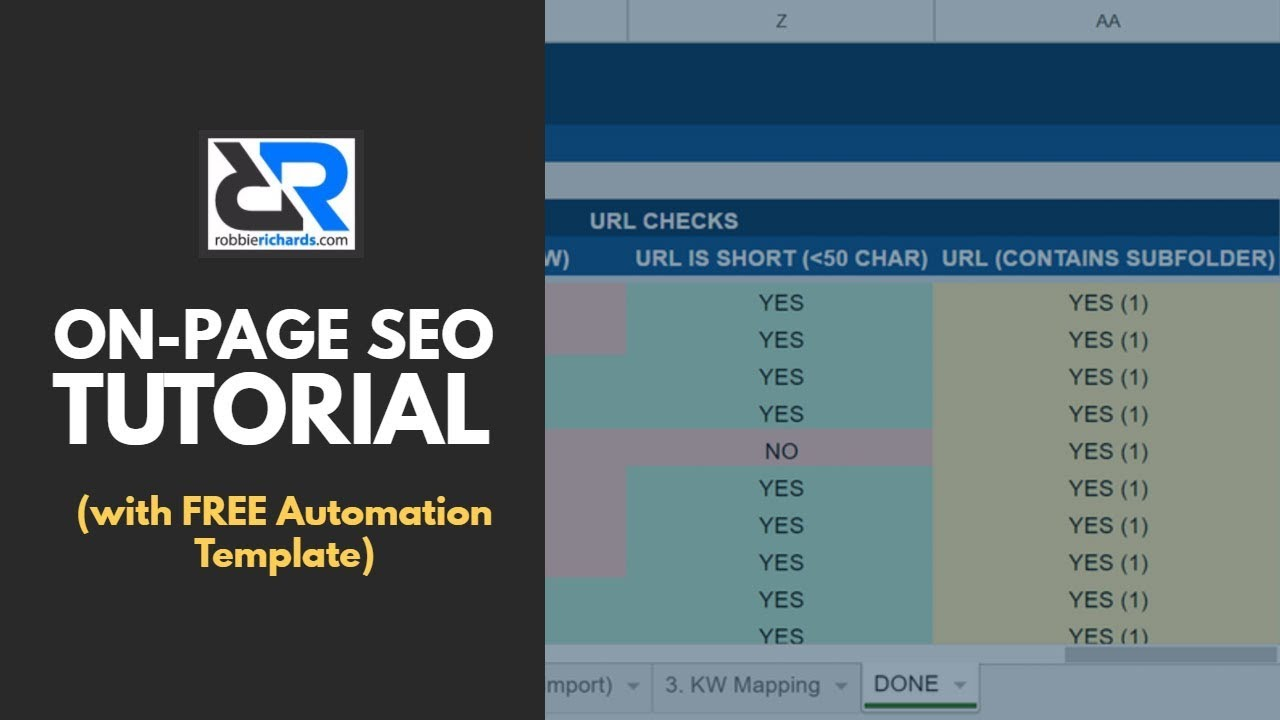 On Page SEO Checklist (with FREE Automation Template) - YouTube