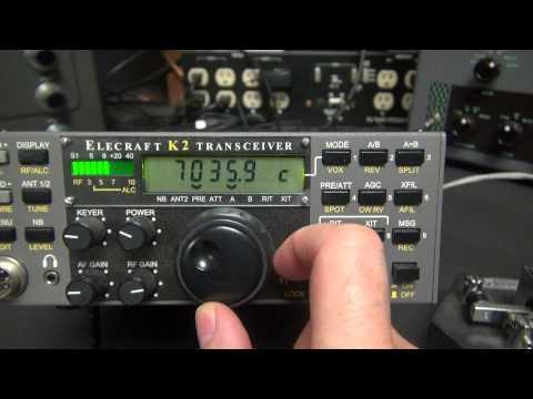 Elecraft K2 CW SSB Ham Radio Transceiver Fathers Day Gift