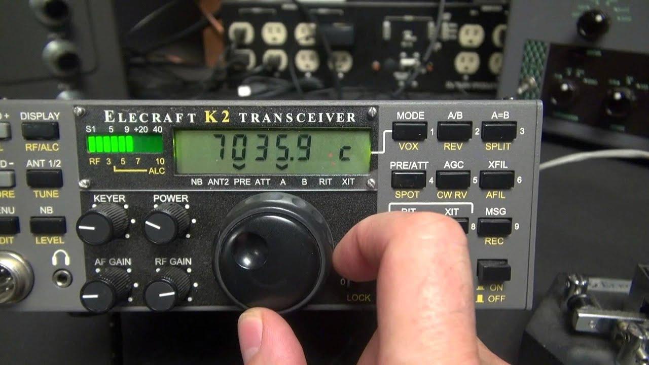 Elecraft K2 CW SSB Ham Radio Transceiver Fathers Day Gift 2015 N6tlu