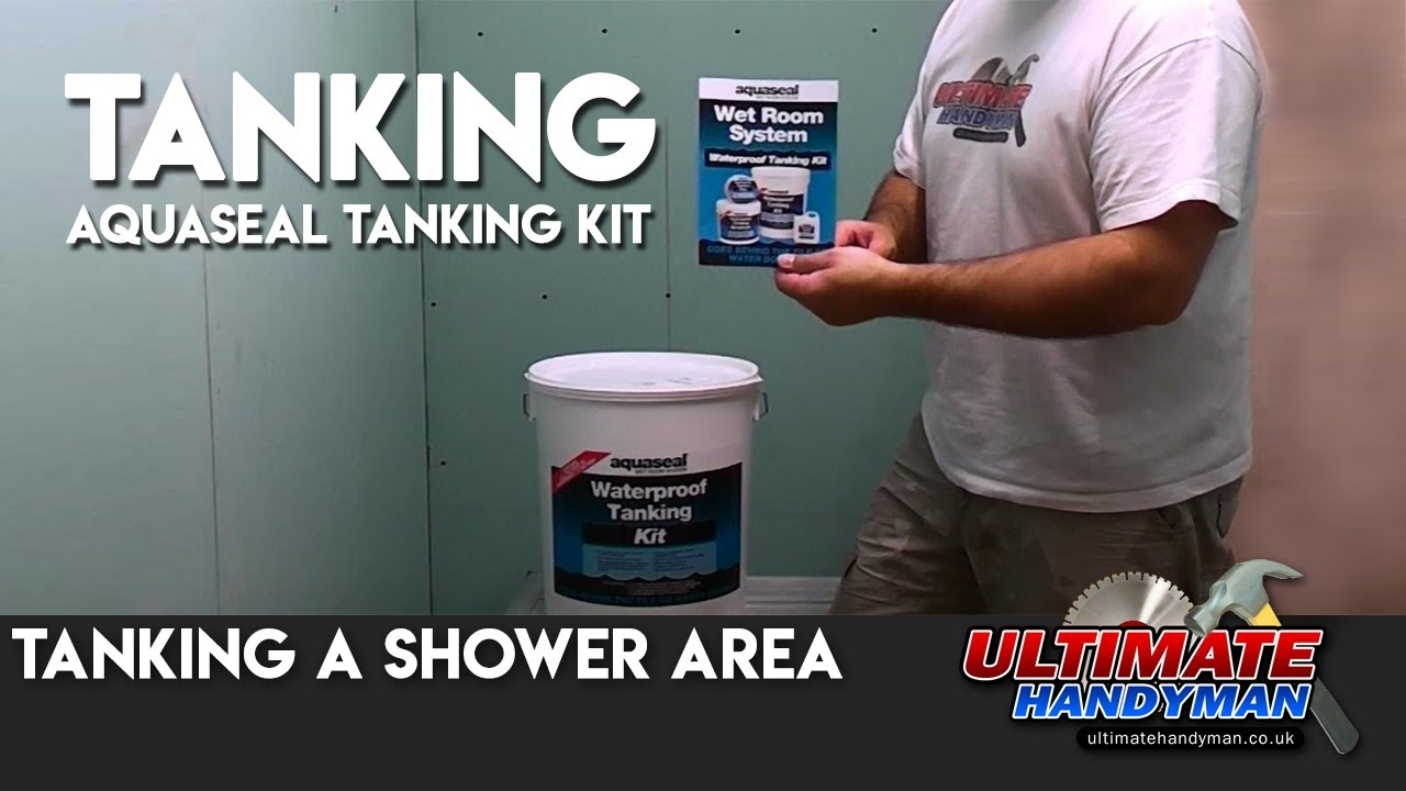 Tanking a shower area - YouTube
