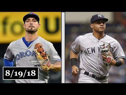 Toronto Blue Jays vs New York Yankees Highlights || August 19, 2018