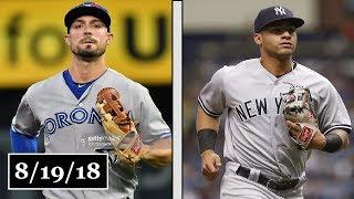 Toronto Blue Jays vs New York Yankees Highlights    August 19, 2018
