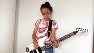 11-year-old Japanese girl plays the Ramones - Pinhead - Guitar cover
