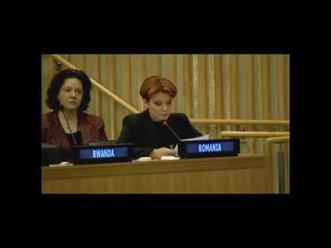 STIRIPESURSE.RO Discurs Lia Olguta Vasilescu la ONU