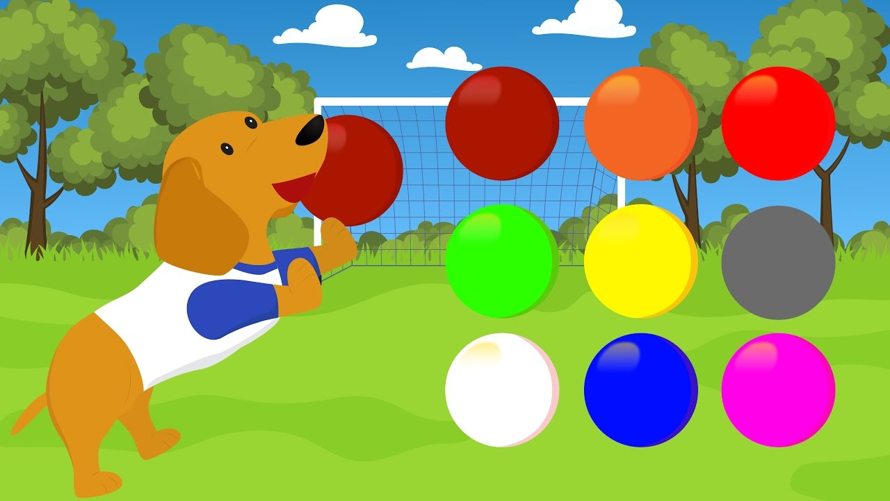 Learn Colors For Children With Dog Colors Animals - Learn Colors ...