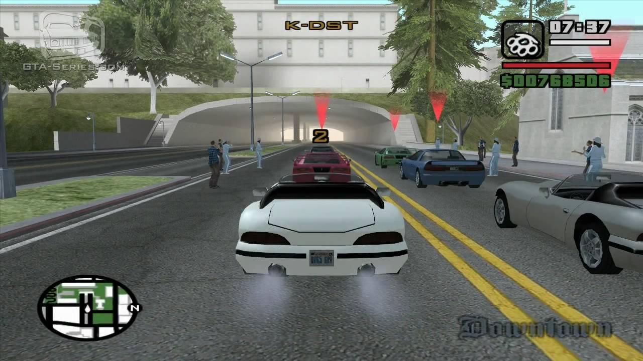 Gta San Andreas Walkthrough Street Race Sf To Lv Hd