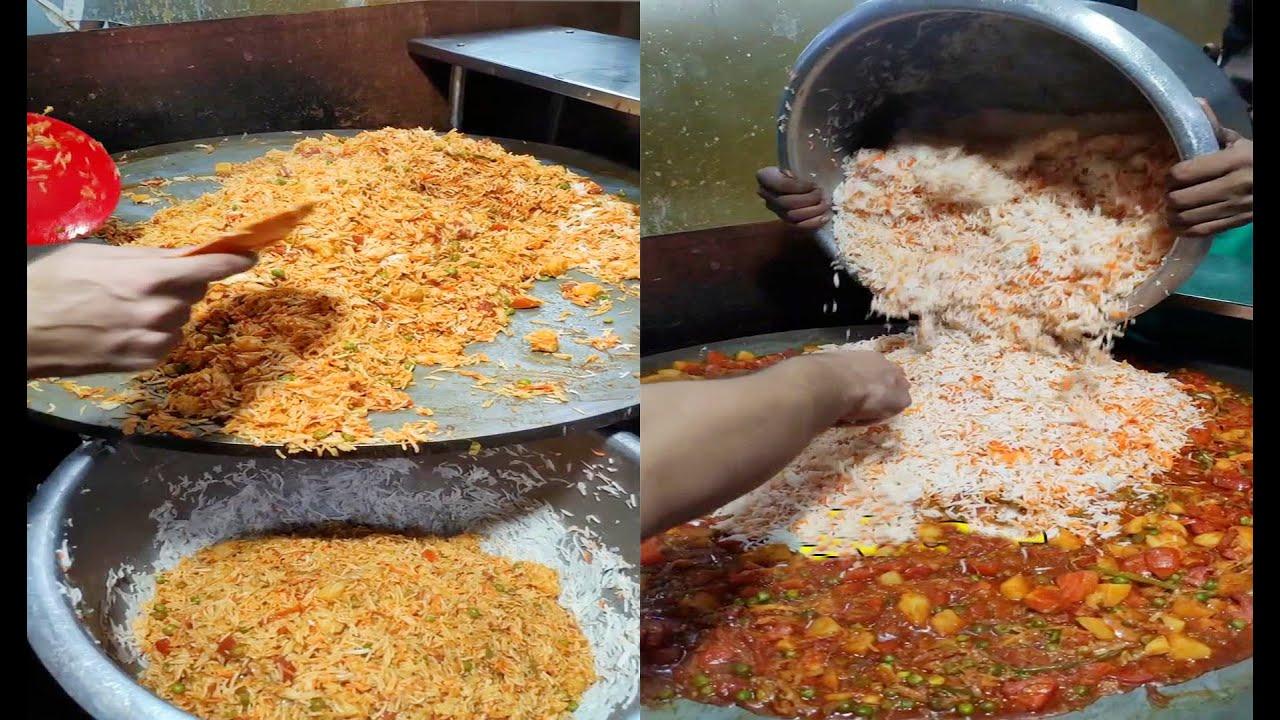 Mumbai's Biggest Tava Pulao Making | 150 Plate Tava Pulao Making | @50 Rs Plate | Indian Street Food