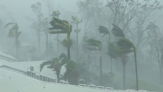Extreme Wind, Flying Debris, Wrecked Boats - Cyclone Debbie 4K Stock Footage Reel