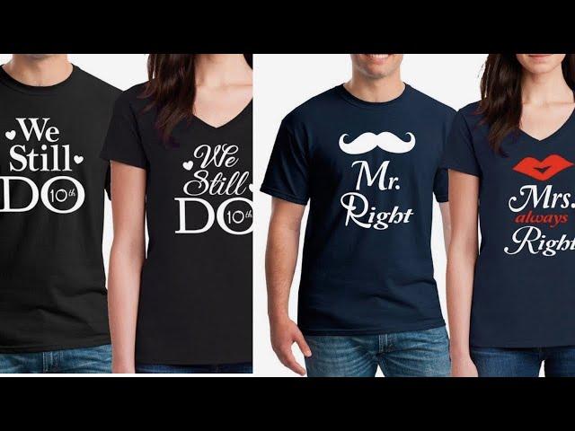 His & her shirts || Matching tees || Couple Tshirts || valentines tshirts || kaur Trends