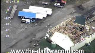 Aerial footage from tornado (HQ)