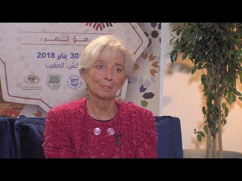 """Christine Lagarde : """"Les prévisions de croissance mondiale sont plutôt bonnes"""""""