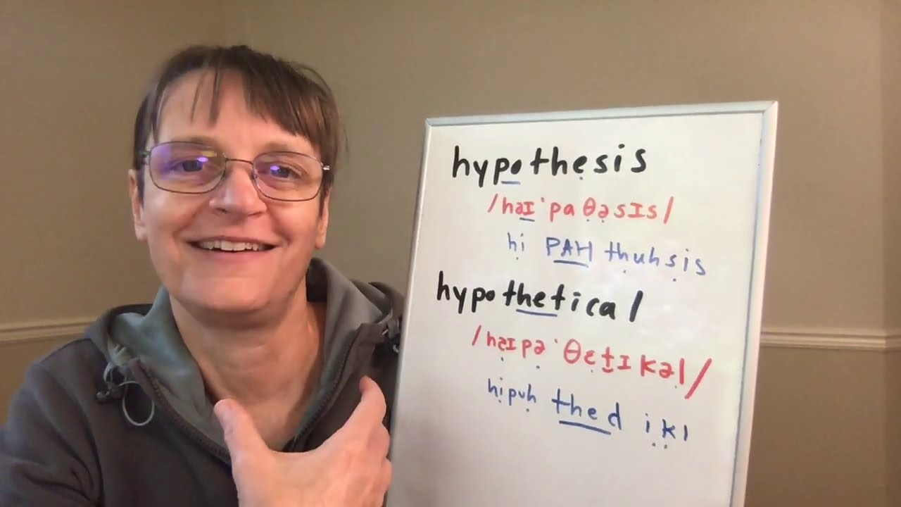 How to Pronounce Hypothesis and Hypothetical (Free American Accent  Training, SpeechModification.com)