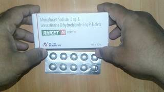 Rhicet M Tablet uses composition side effects precaution dosage & review in Hindi