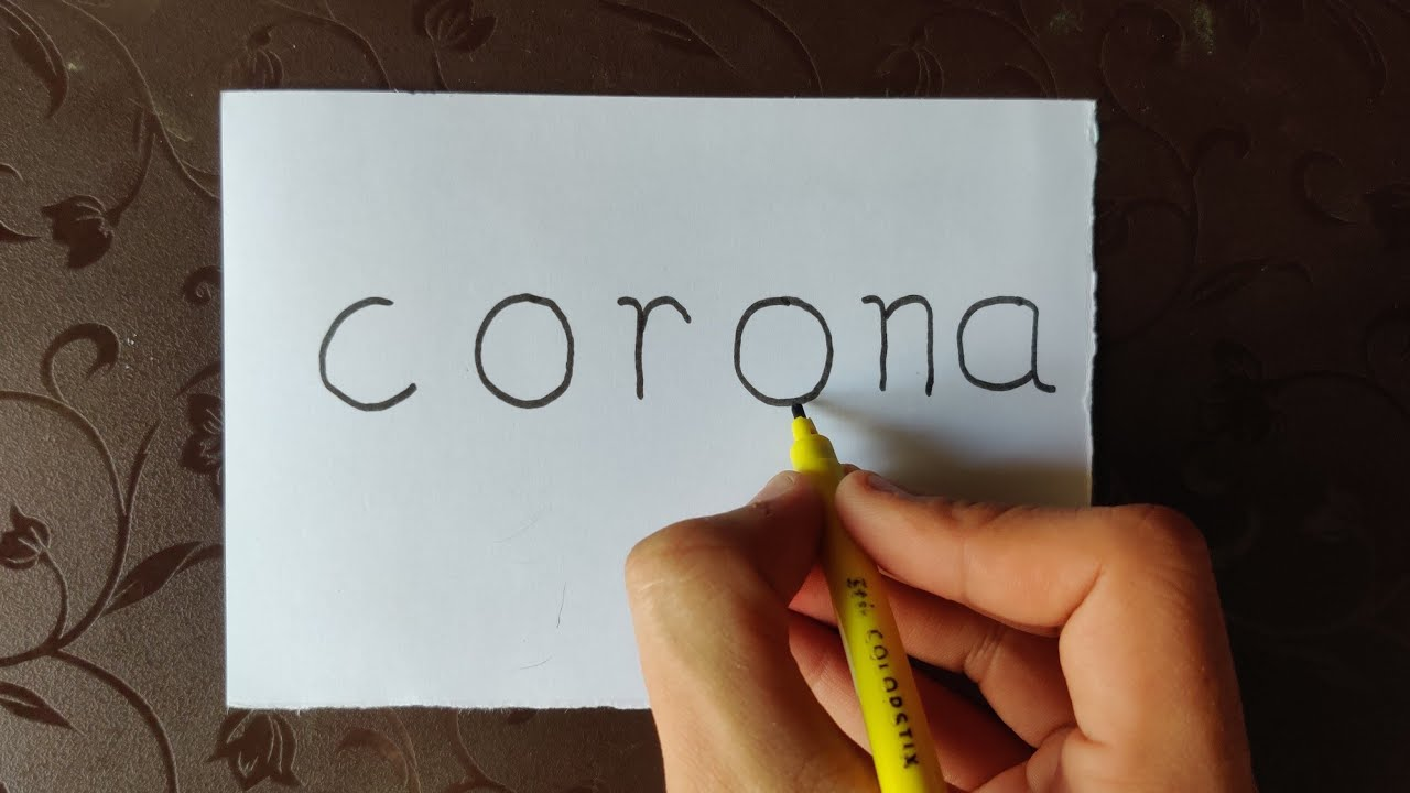 "Very easy! How to turn ""corona"" word into corona warriors ..."