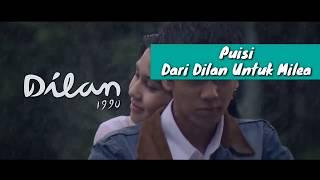 Trailer Dilan 1990 || Puisi Dari Dilan Untuk Milea