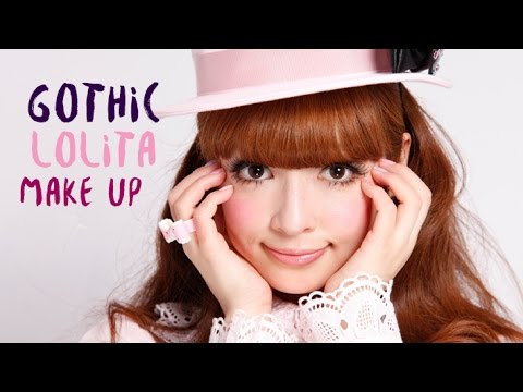 make up tutorial  simple gothic lolita look  youtube