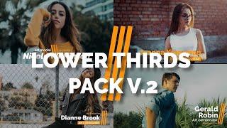 Lower Thirds Premiere Pro Templates