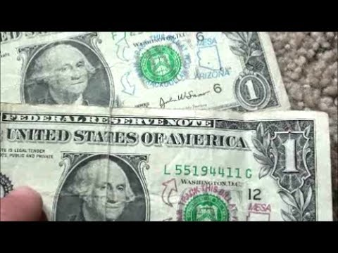 Track This Bill Stamps On Dollar Bill Have You Seen