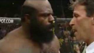 kimbo gets his ass kicked in the ring within 5 sec ( best quality )