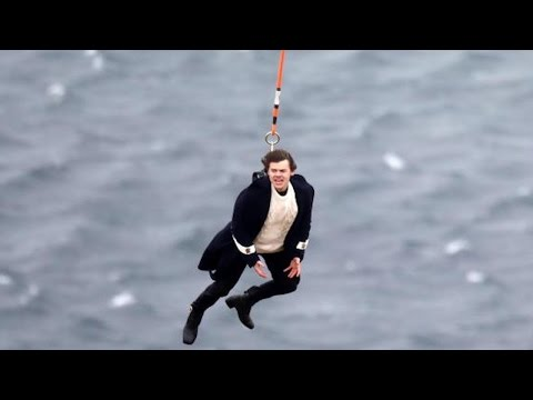 Harry Styles Risks His Life Hanging From A Helicopter While Filming Video For 'Sign Of The Times'