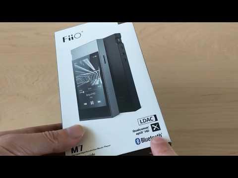 FiiO M7 (un-box) LDAC aptX-HD portable music player - YouTube