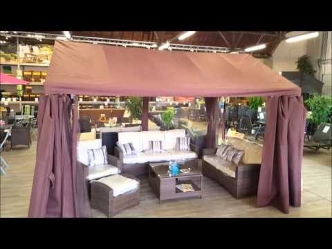 Festzelt Pavillon Design : Pavillon festzelt gartenzelt partyzelt von maco braun