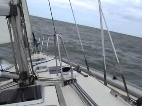 Elan 43 Seafox Zeiltocht van Stellendam naar Oostende met NW 5 in aug 2013
