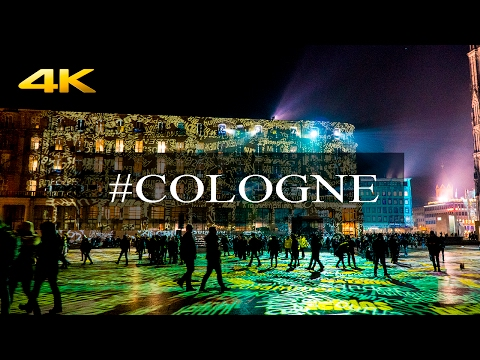 Cologne (Köln , Koeln): a Tour Around the city on New year's Eve in 4K