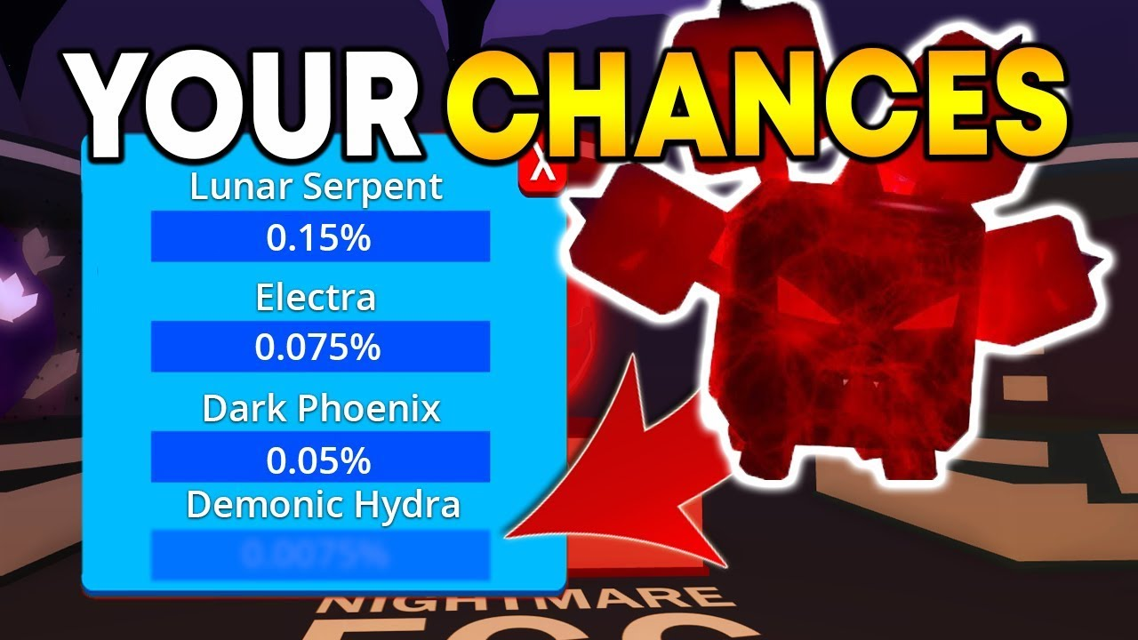 I Got The Demonic Hydra Pet Best Possible Pet Roblox - This Is Your Chance Of Getting Demonic Hydra In Bubble Gum