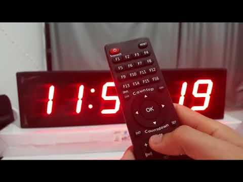 9091ce1ed2d Cronometro para academia Relogio Parede Led exercicios Treino Luta Circuito  Crosfit Como Configura