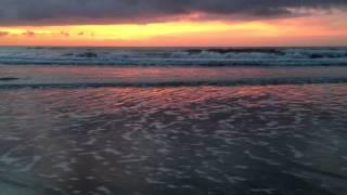 コタキナバル近郊のビーチの夕焼けの風景。