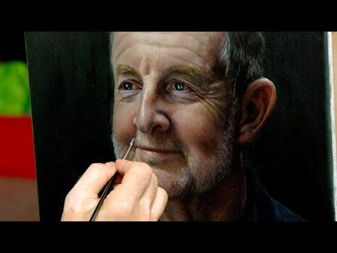 Painting a Portrait in Oils using a grid, grisaille, glazing & scumbling