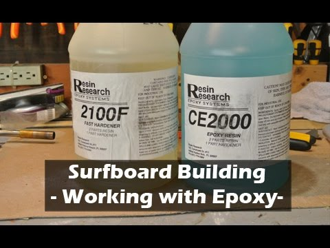 Working with Surfboard Epoxy: How to Build a Surfboard #23