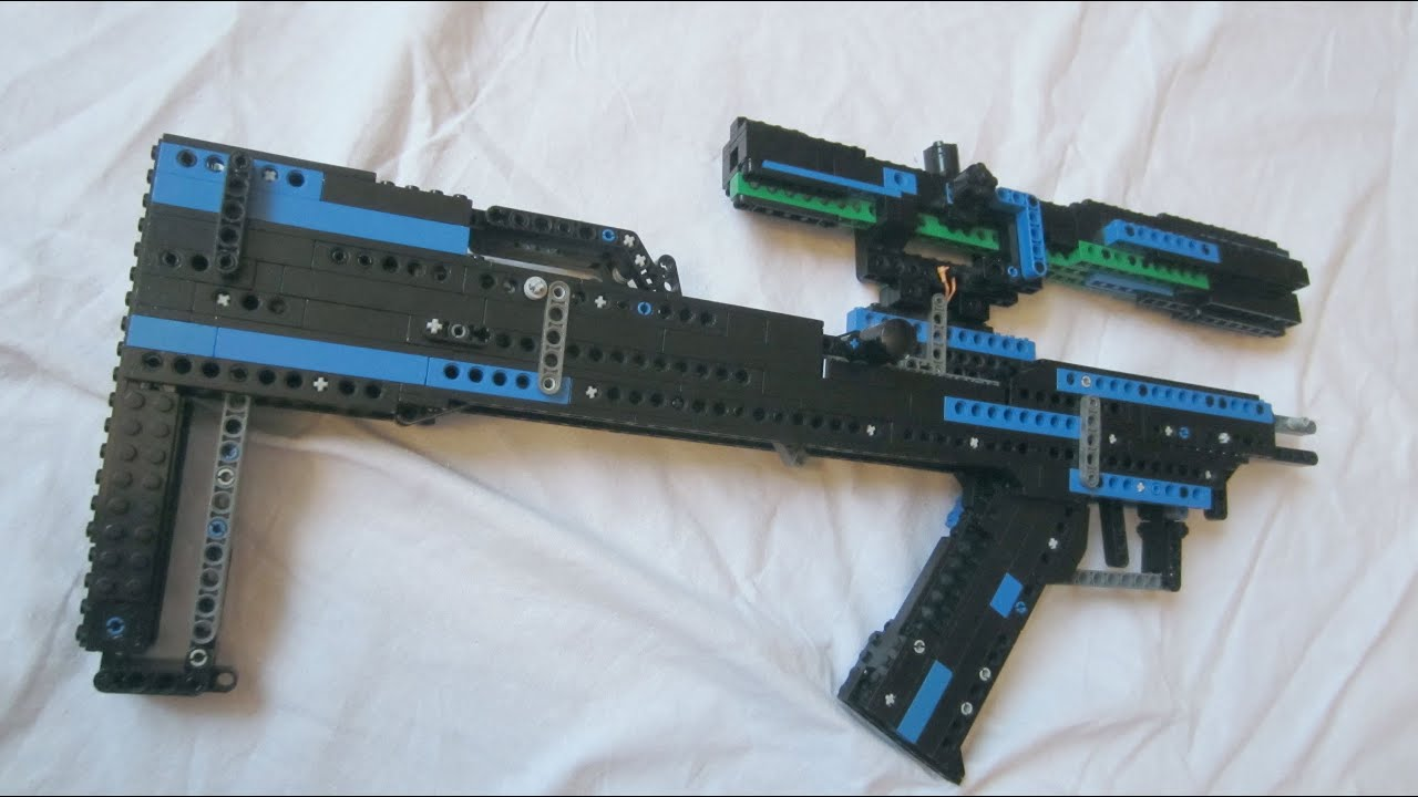 Lego Full Auto Blowback Rifle Instruction Youtube
