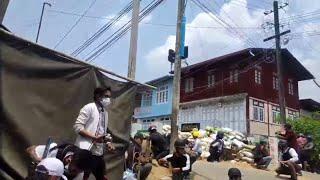 Schussbefehle auf Demonstranten in Myanmar