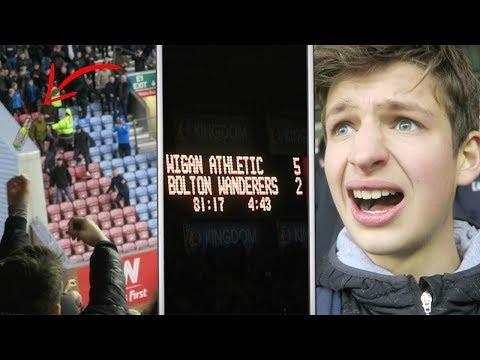 BOTTLES THROWN AT PLAYERS... | Wigan vs Bolton Vlog