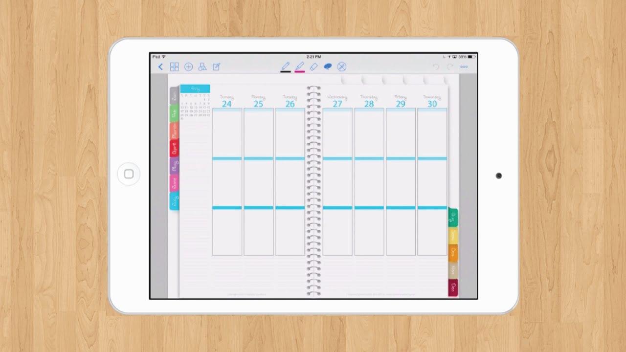 iPlanner Digital Planner - YouTube