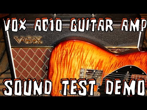 VOX AC10 Custom Guitar Amplifier Sound Test Demo