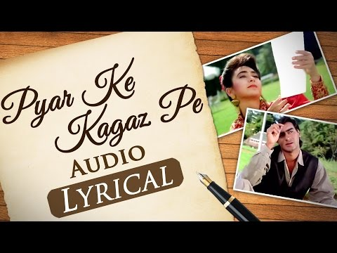 Pyar Ke Kagaz Pe - Jigar (1992) songs | Audio Lyrical - Ajay Devgan & Karishma Kapoor - 90's Duets