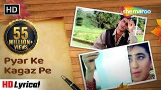 Download lagu Pyar Ke Kagaz Pe - Jigar songs | Audio Lyrical - Ajay Devgan & Karishma Kapoor - 90's Duets